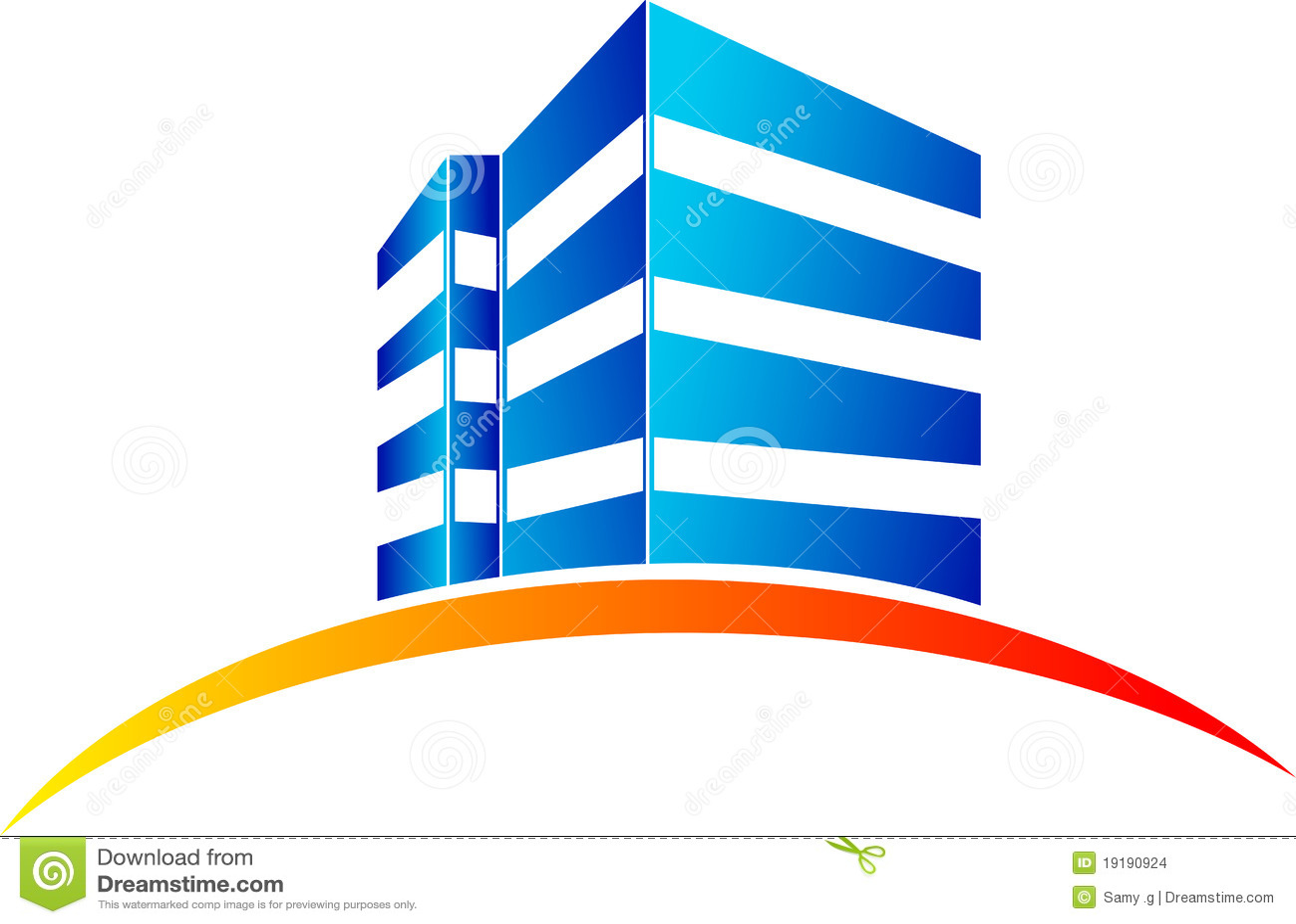 Bien-aimé Logo De Ville De Bâtiment Photographie stock - Image: 34667292 MN83