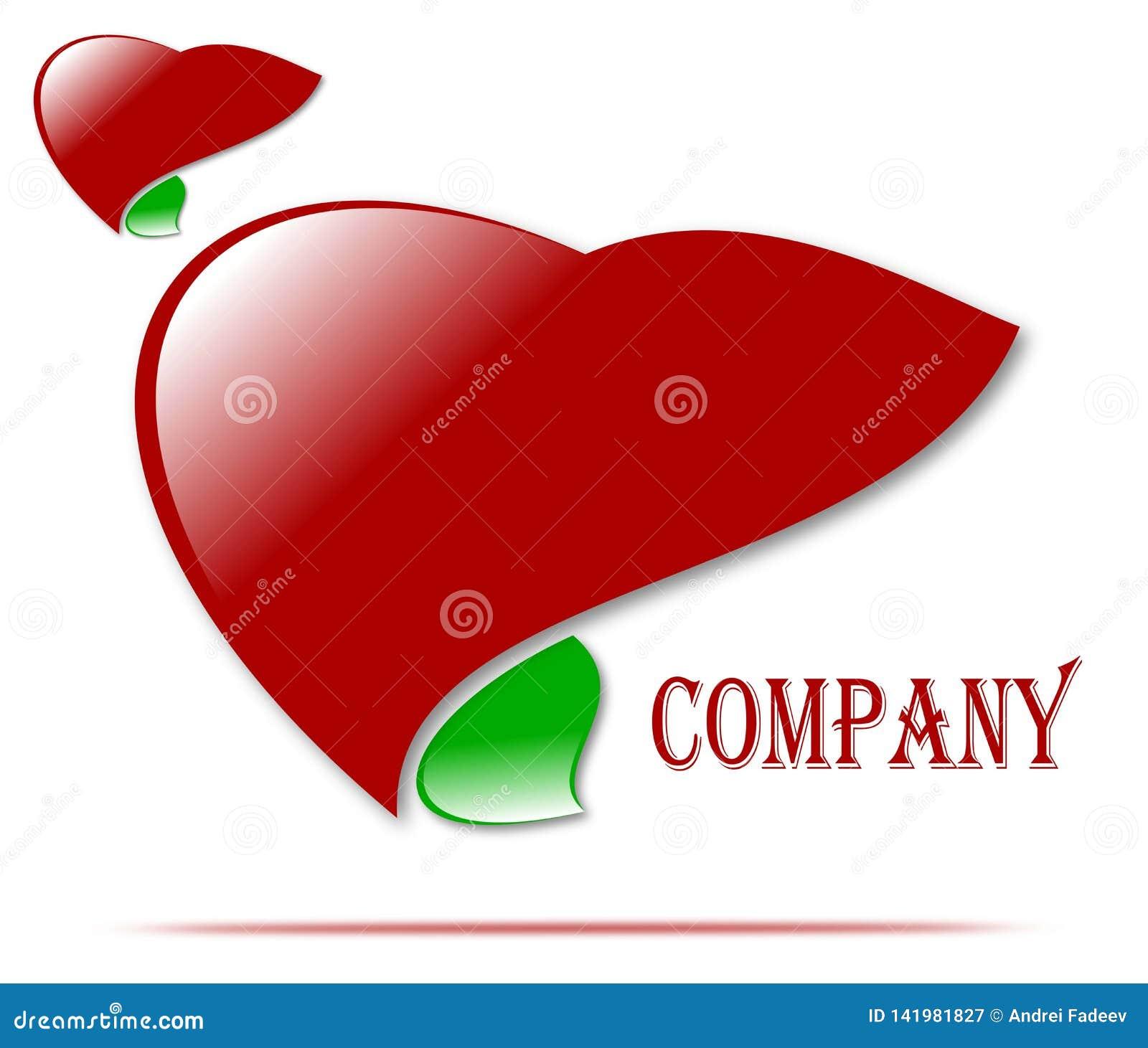 Logo de dessin de société de santé et d amour, médecine