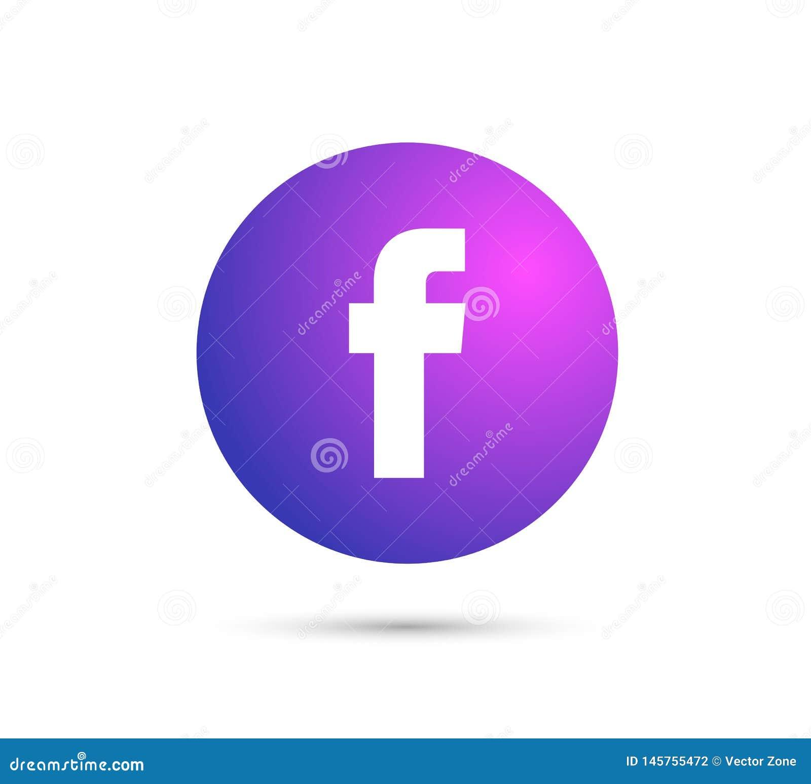 Logo De Facebook Avec Le Dossier Du Vecteur Ai Rouge Arrondi A