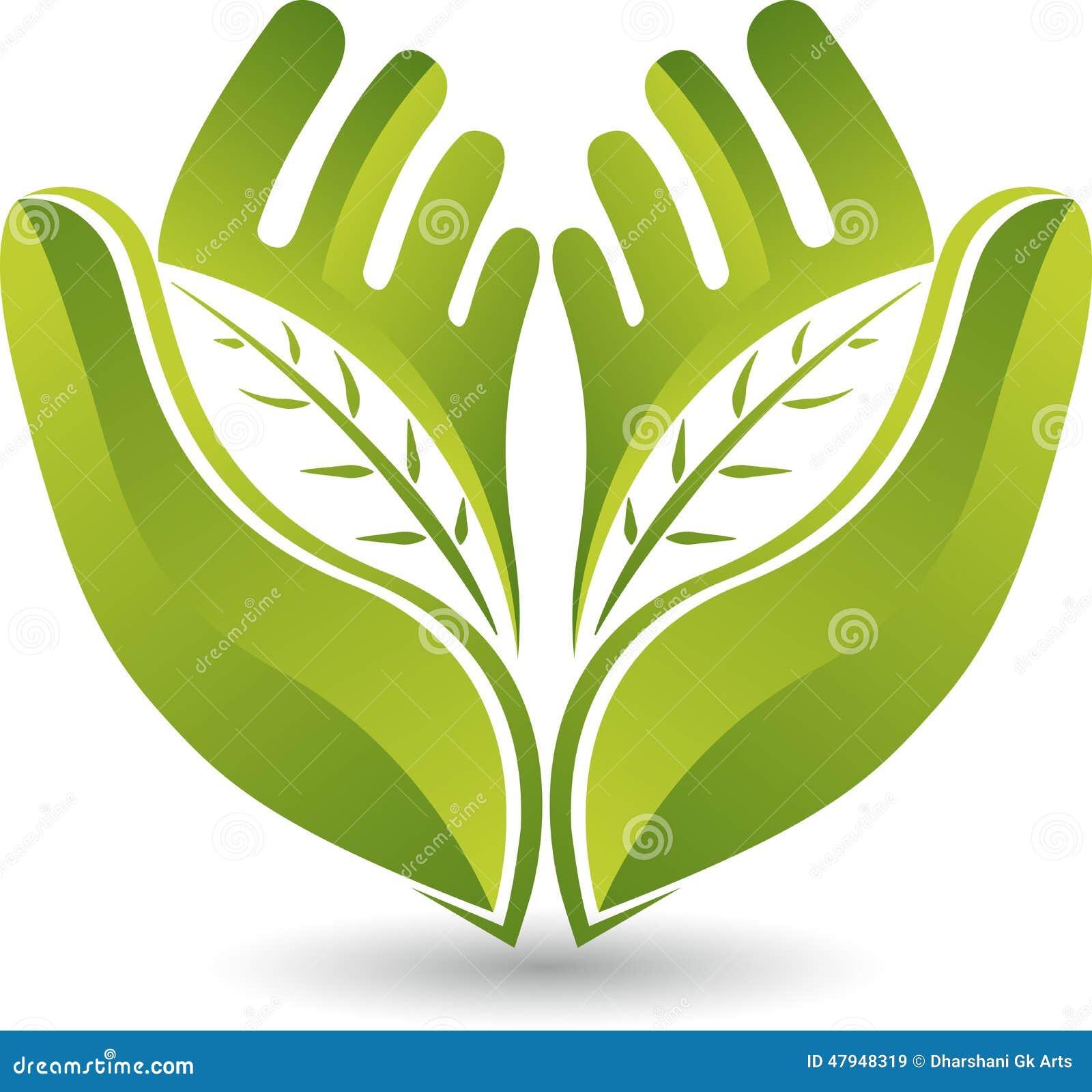 Logo de feuille de mains