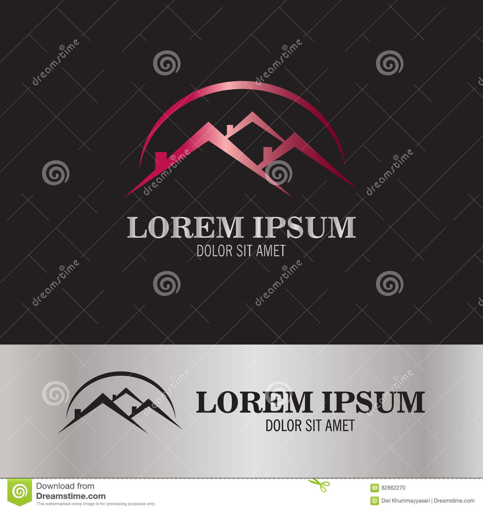 logo de forme de toit illustration de vecteur illustration du campagne 82862270. Black Bedroom Furniture Sets. Home Design Ideas