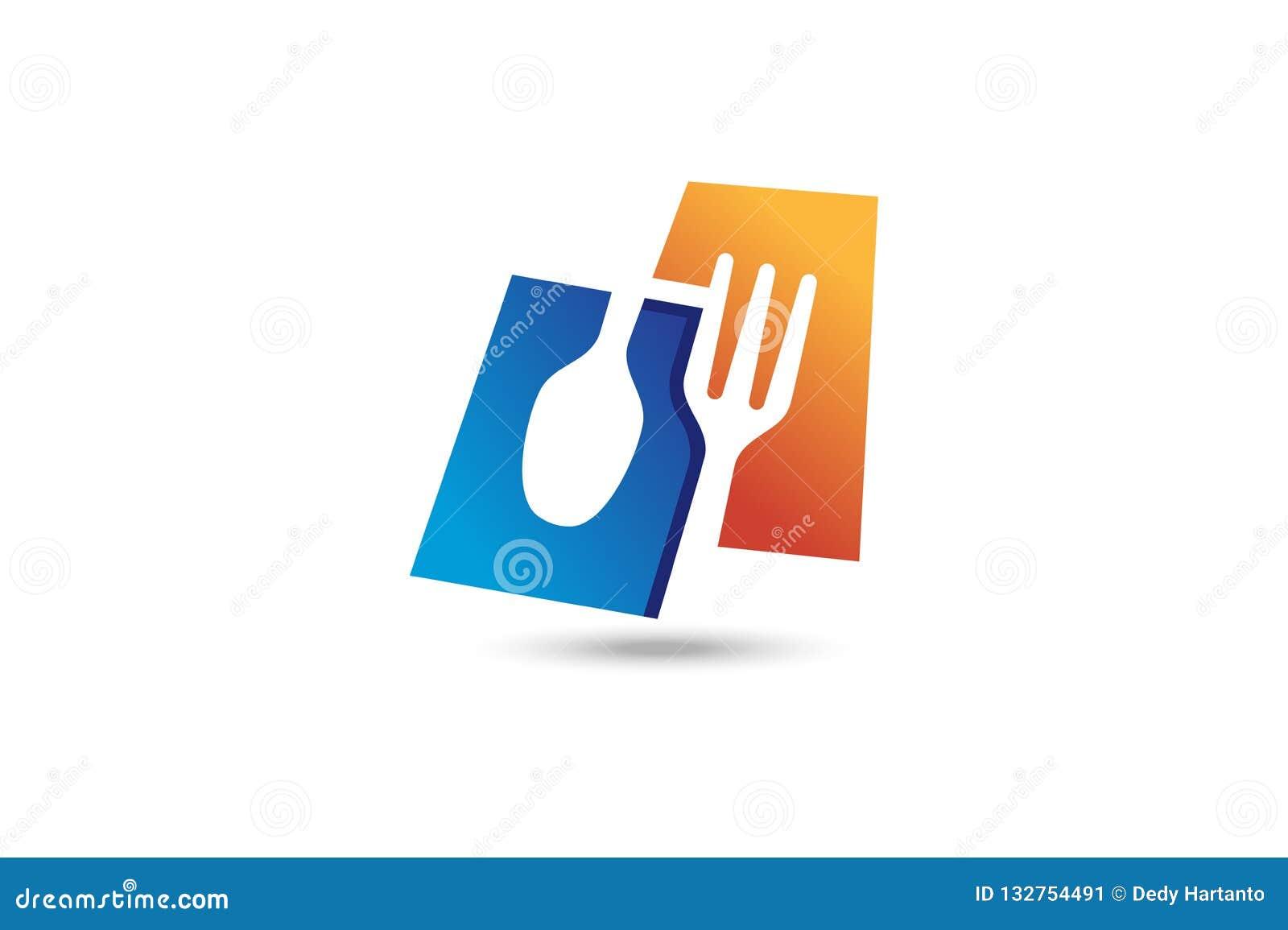 Logo de fourchette et de cuillère