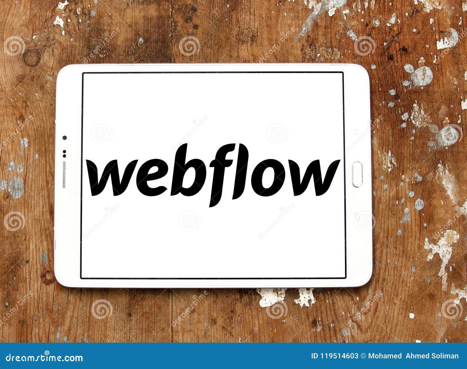 Logo De Fournisseur De Logiciel De Webflow Photo stock