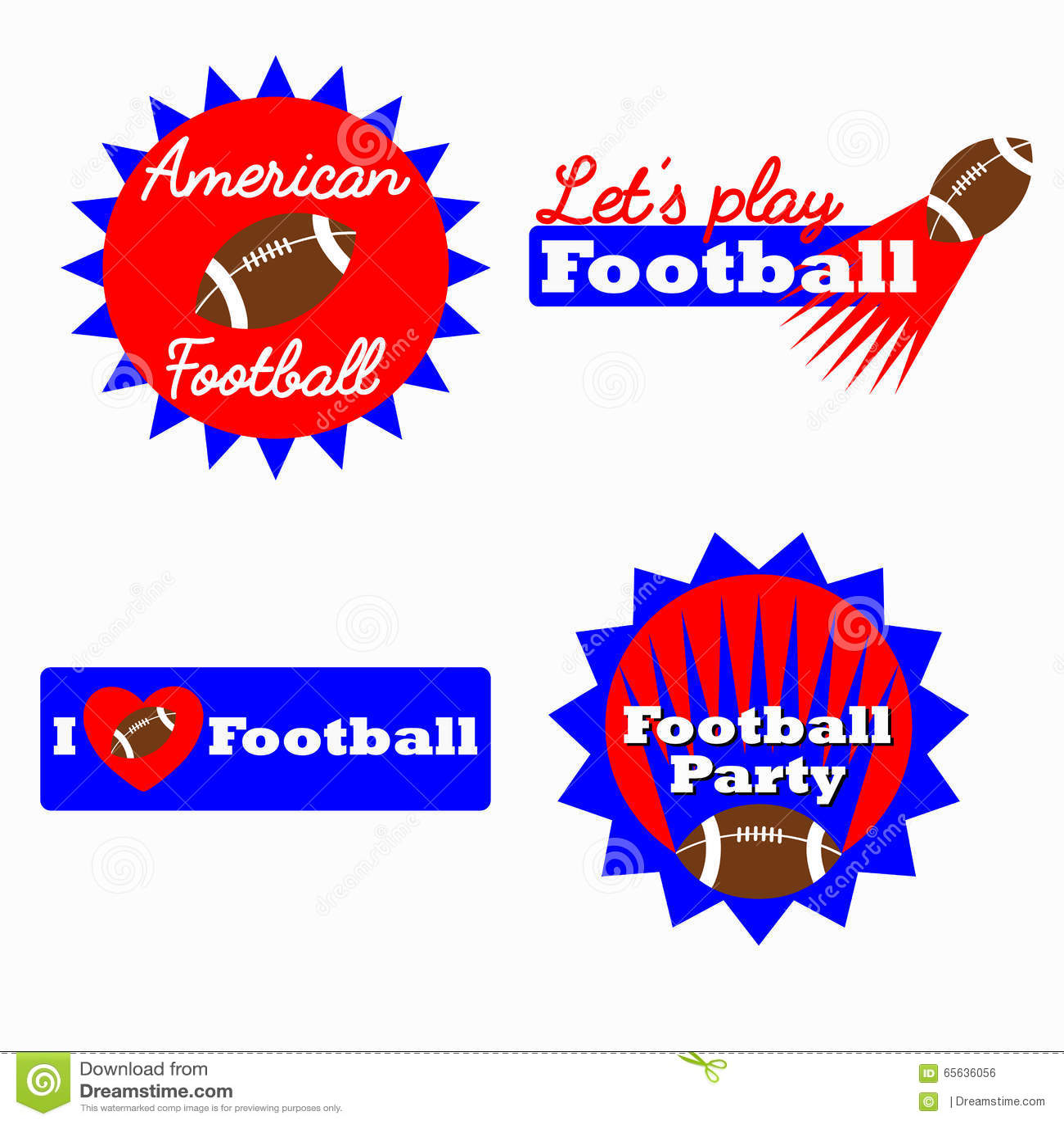 Logo de gagnant de défi de football américain, label, insigne