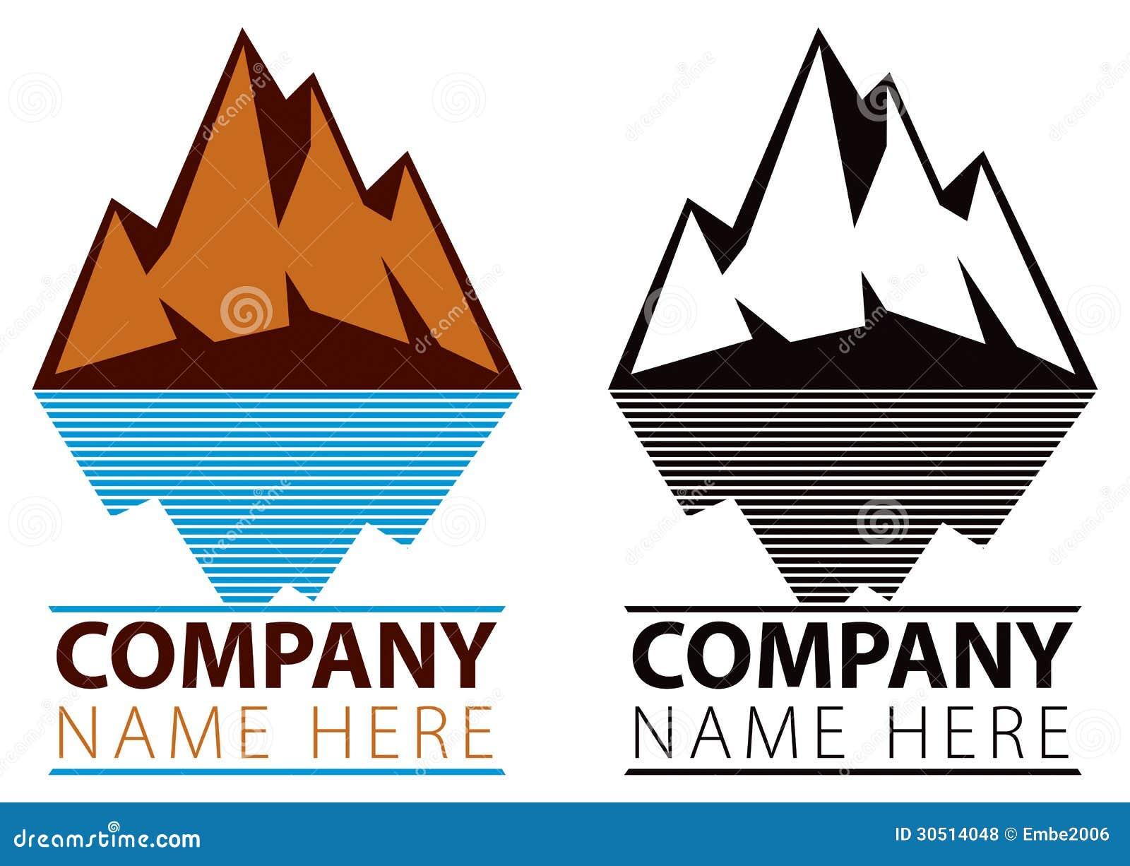 Logo de glace de montagne