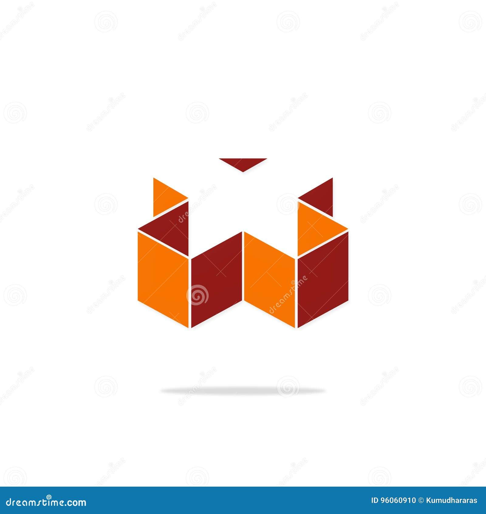 Logo de la lettre X du résumé 3D