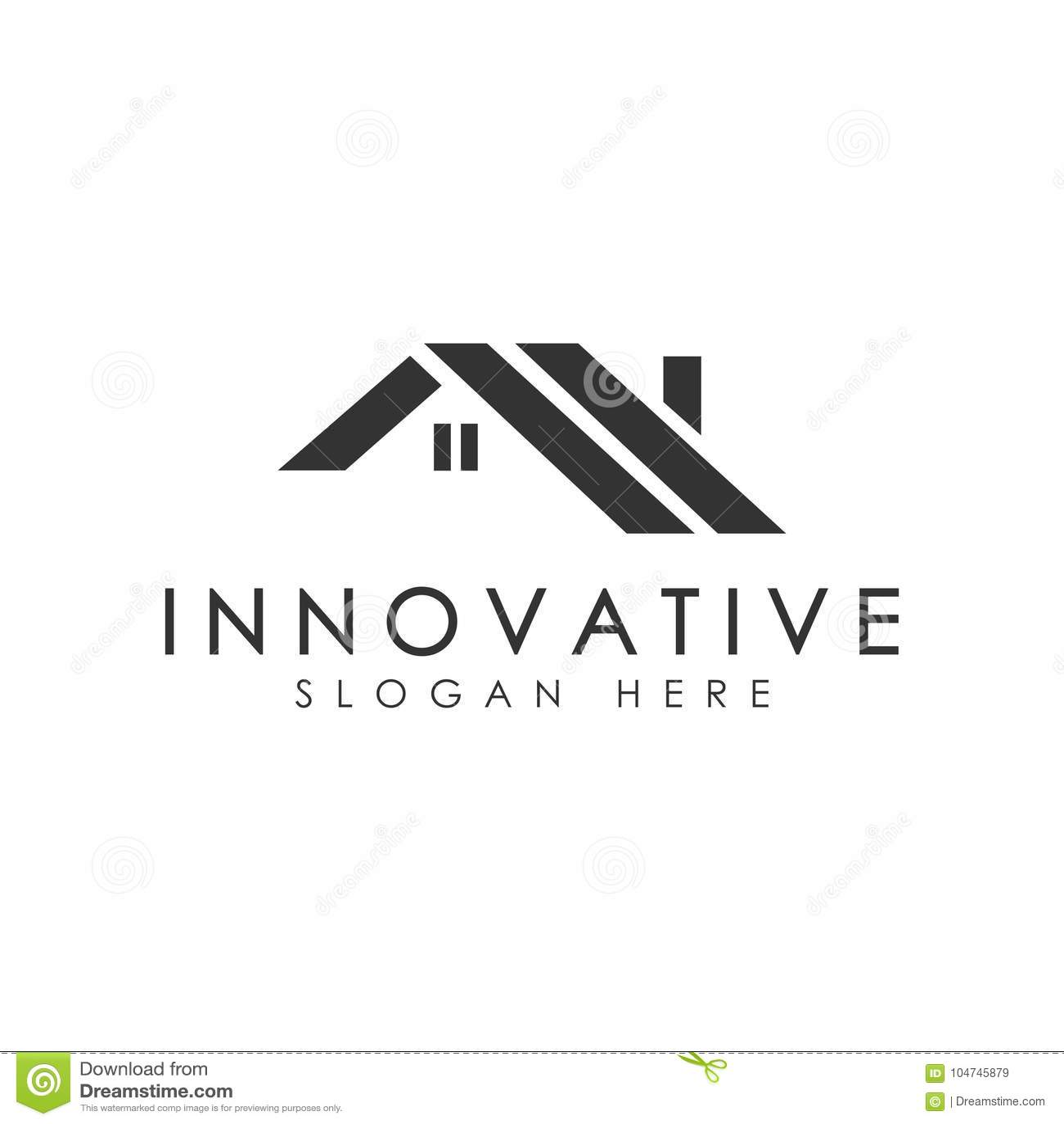 Logo de la maison de toit