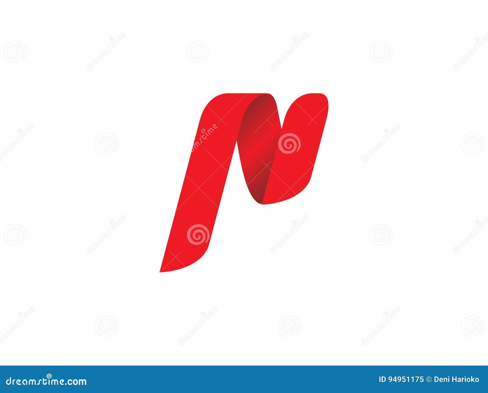 Logo de lettre de P