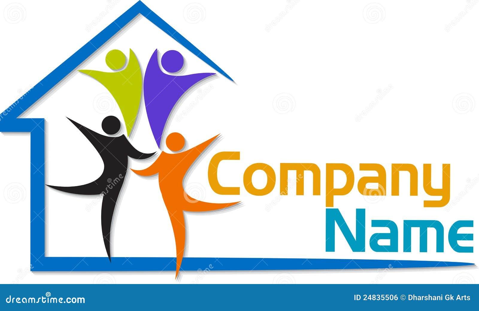 Logo de maison de famille