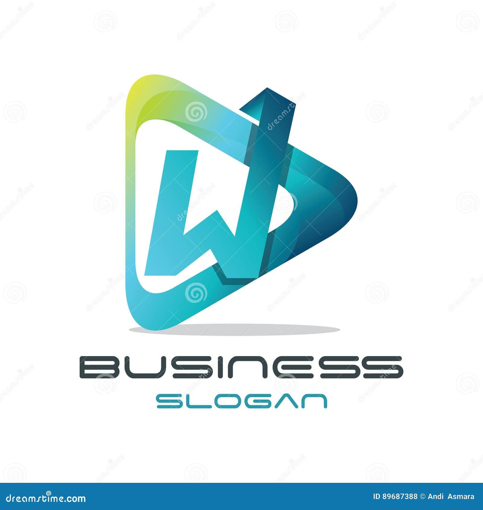 Logo de media de la lettre W