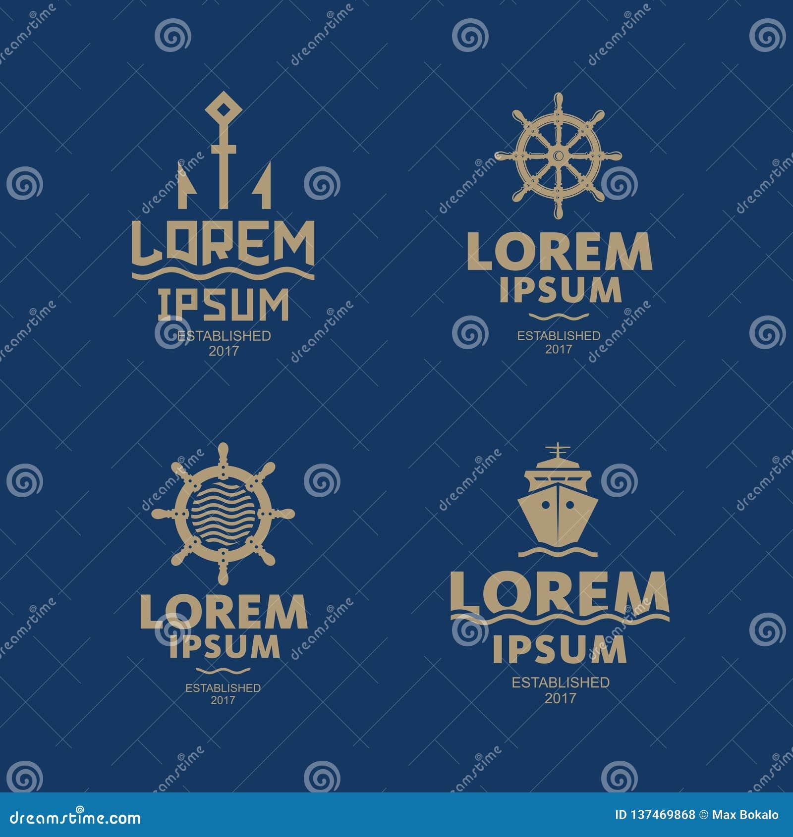 Logo de mer Emblème d abrégé sur bateau