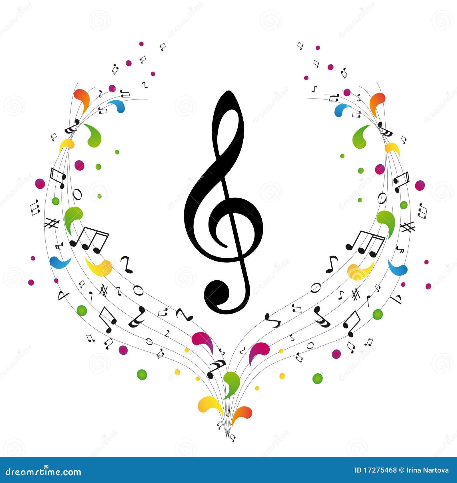 Logo de musique - clef triple