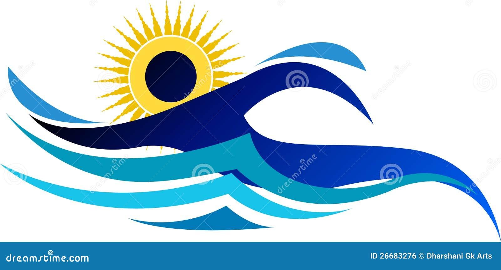 Logo De Natation Illustration De Vecteur Illustration Du