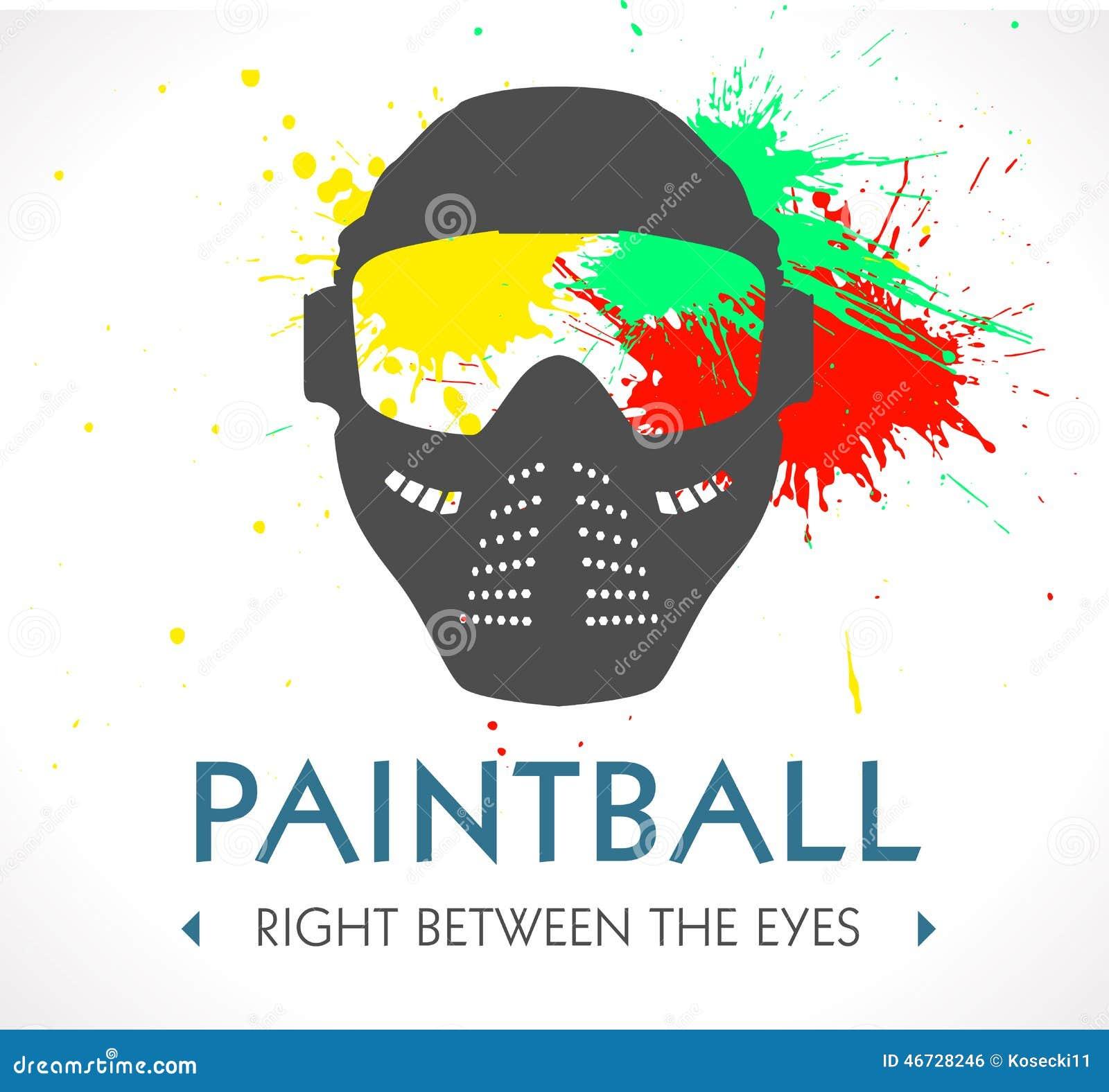 Logo De Paintball Photo stock - Image: 46728246