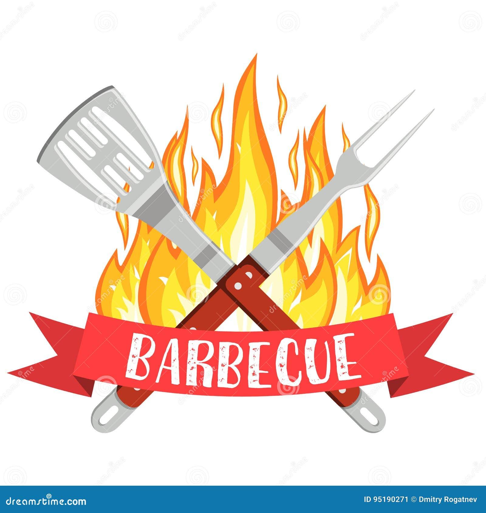 Logo de partie de barbecue