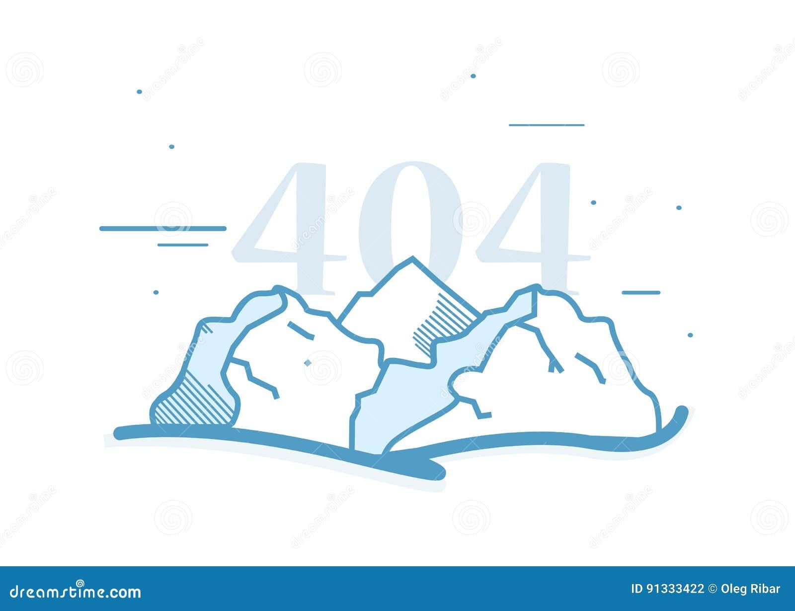 Logo De Paysage De Montagne De Dessin Anime Avec Le Titre Fait Sur