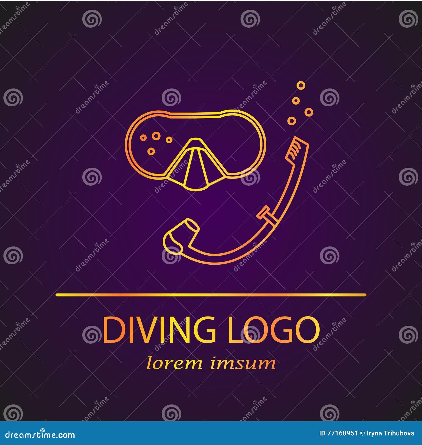 Logo de plongée de vecteur
