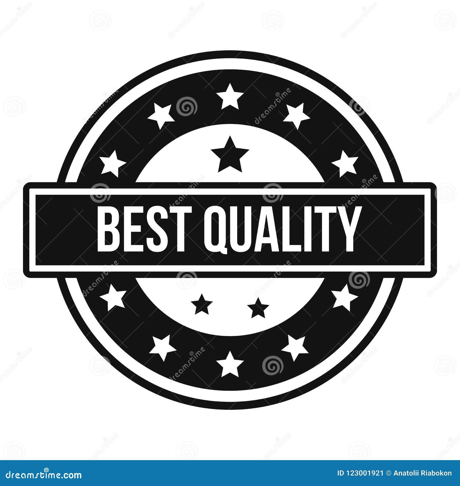 Logo de qualité, style simple