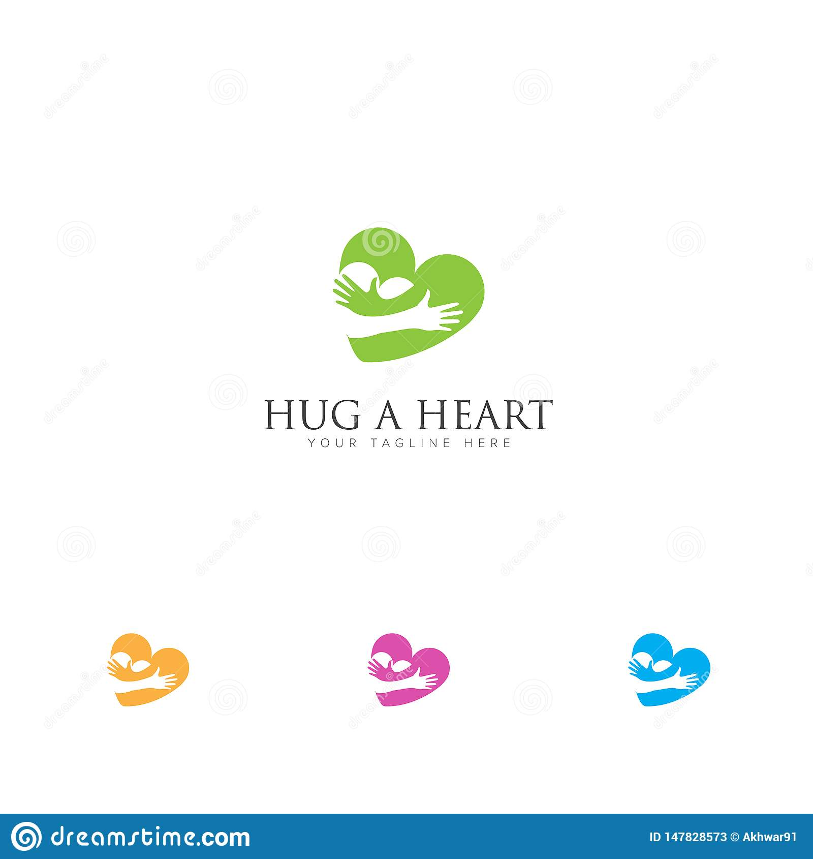 Logo de relations d amour avec le logo de coeurs d ?treinte