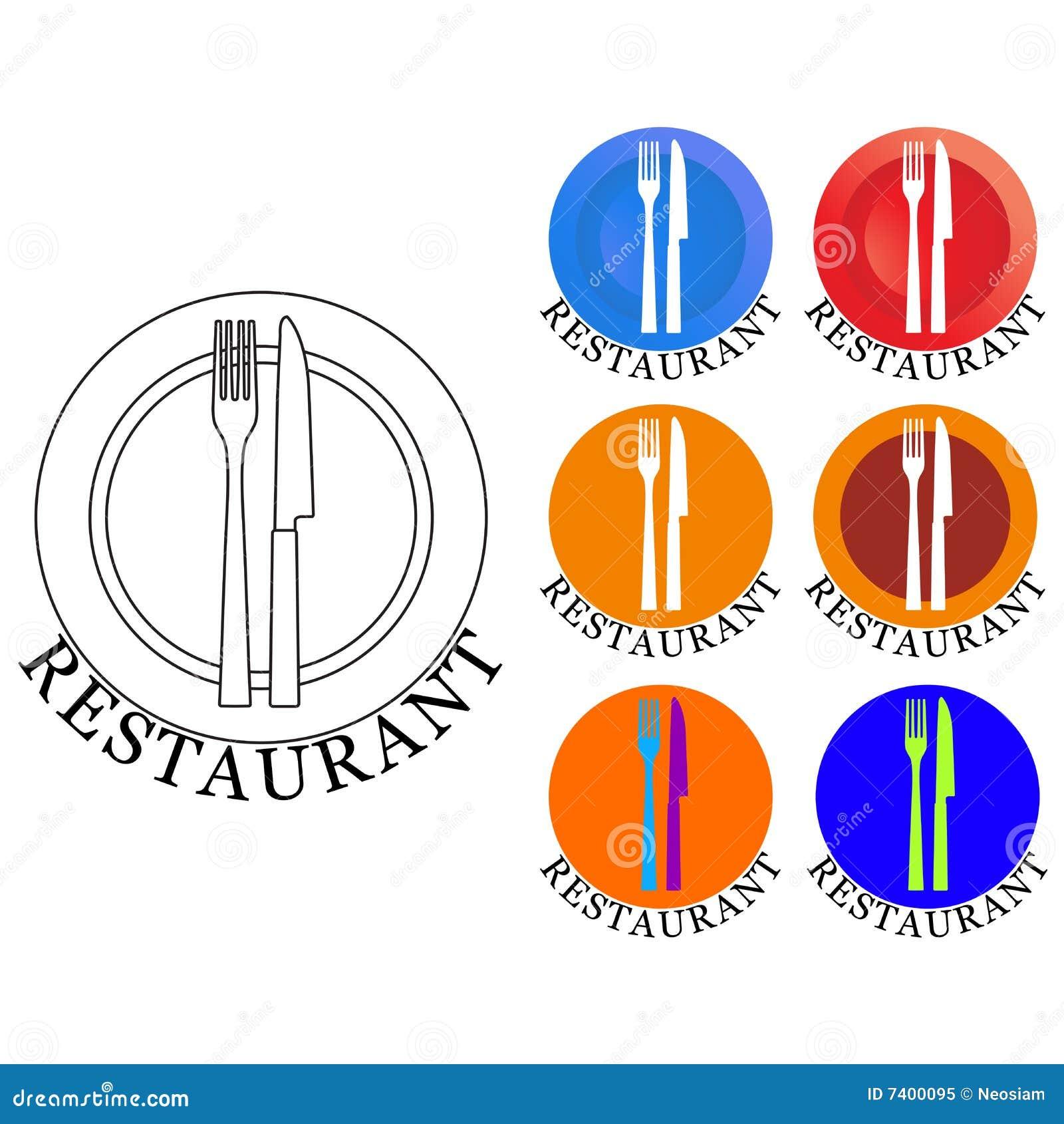 Logo De Restaurant Photo libre de droits - Image: 7400095