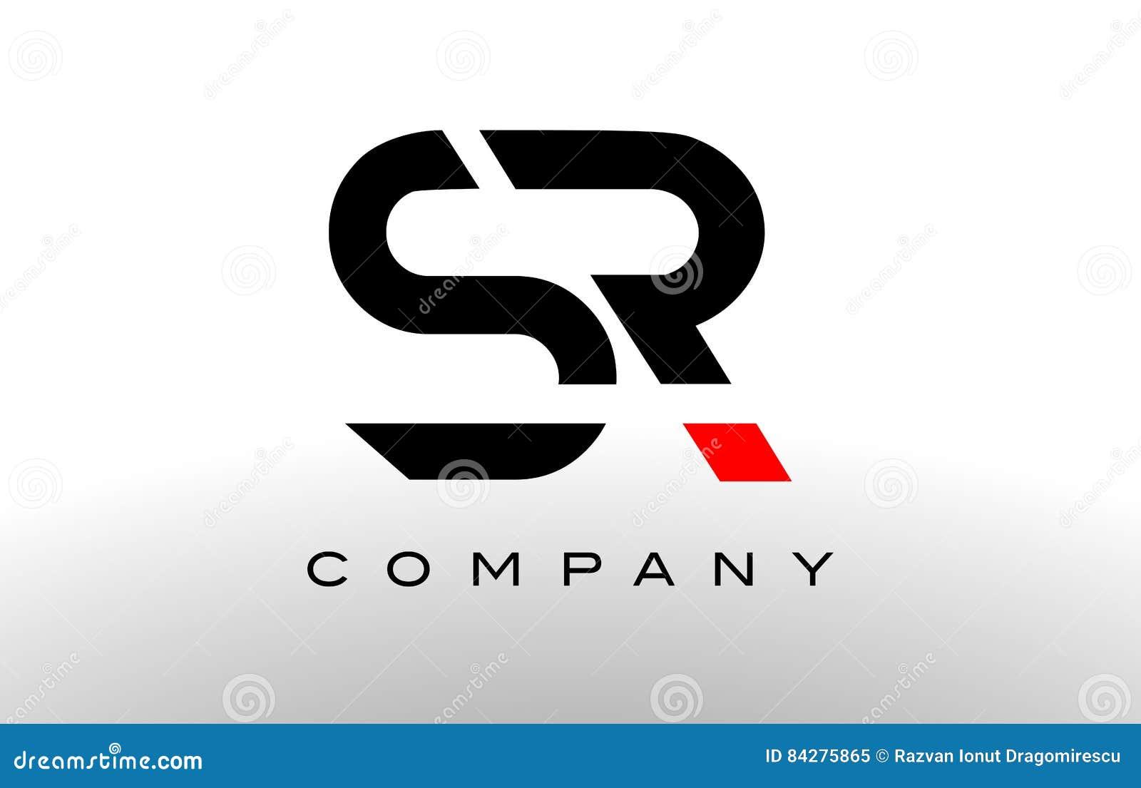 Logo de S R Vecteur de conception de lettre de SR