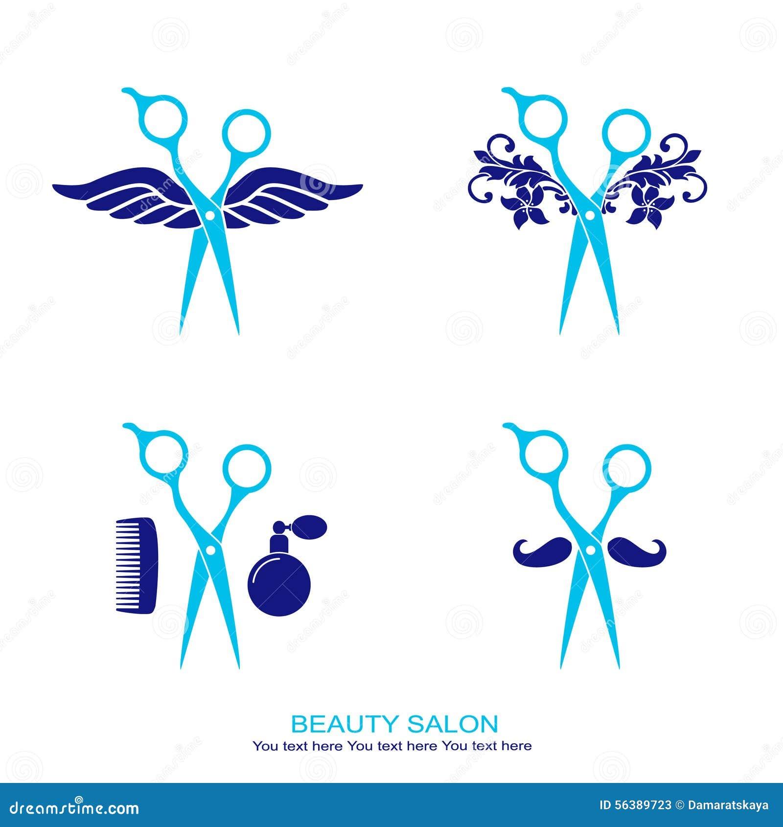 Logo De Salon De Coiffure Ru00e9glu00e9 Avec Des Ciseaux Illustration de Vecteur - Image 56389723