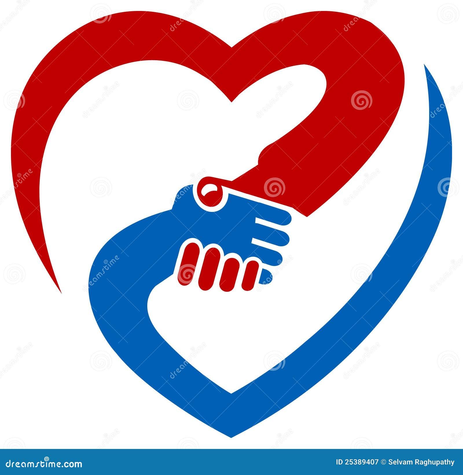 Logo de secousse de main