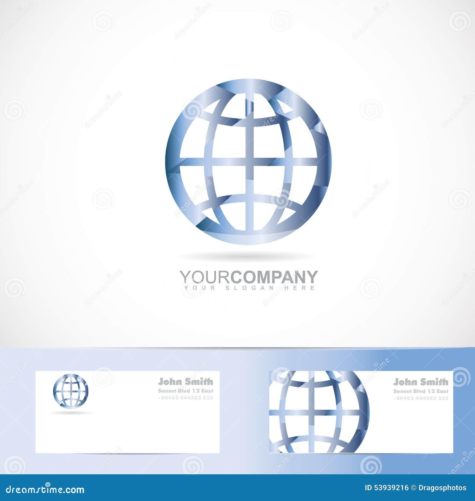 Dirigez Le Calibre De Logo Du Signe 3d Plante Monde La Terre Avec Carte Visite Professionnelle