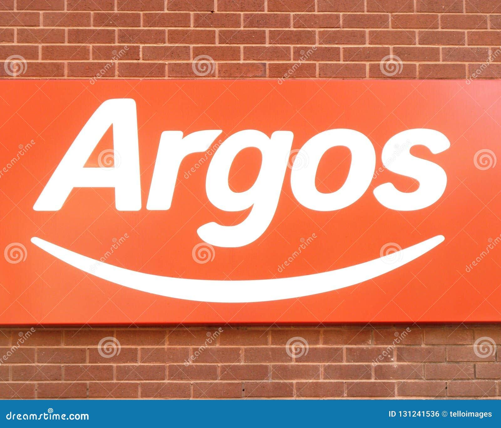 Logo de signe de magasin de magasin d Argos