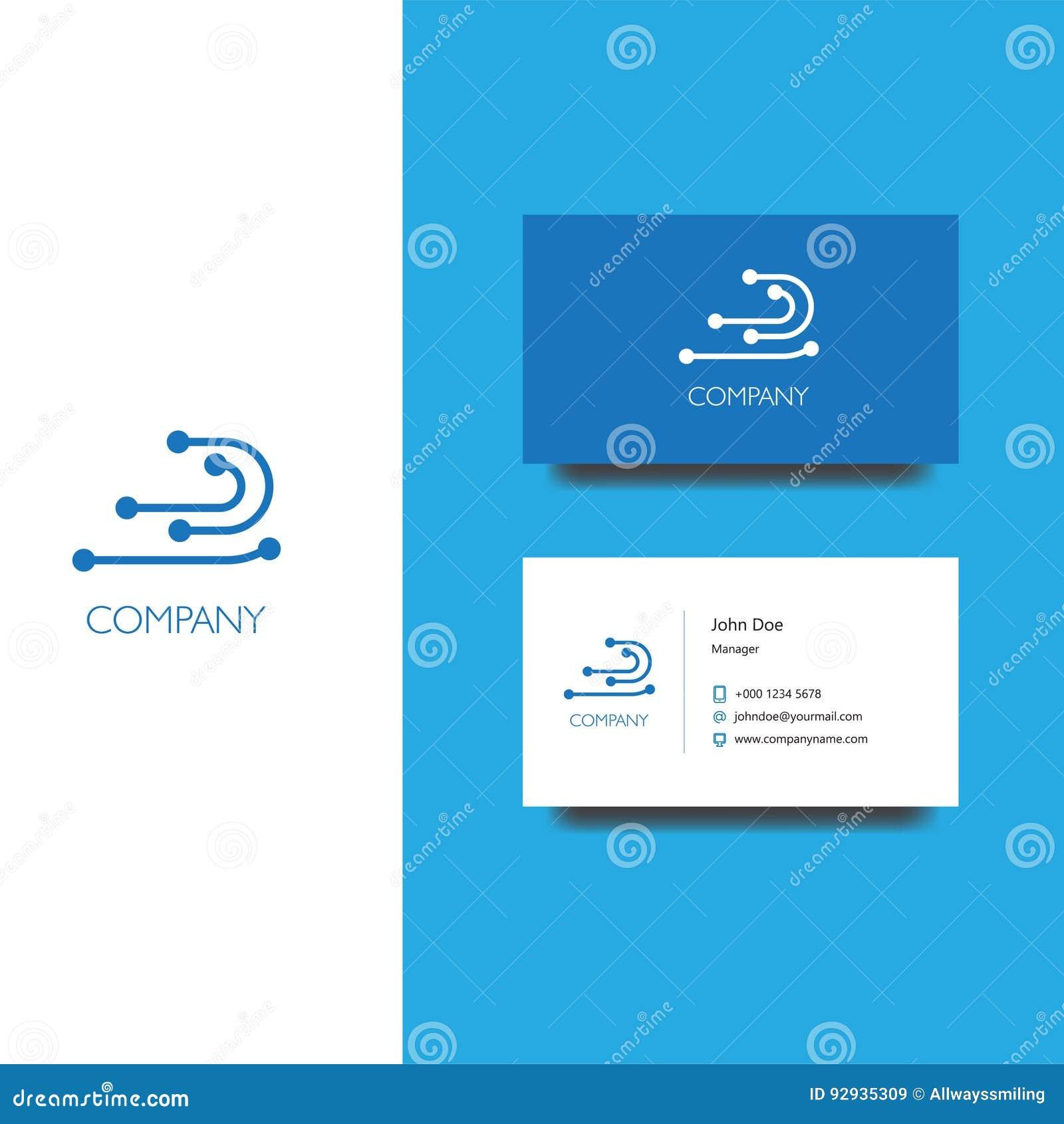 Dirigez Le Logo DENV Pour Des Services Electornic Ou Stockez La Socit Calibre De Carte Visite Professionnelle Conception Dicne