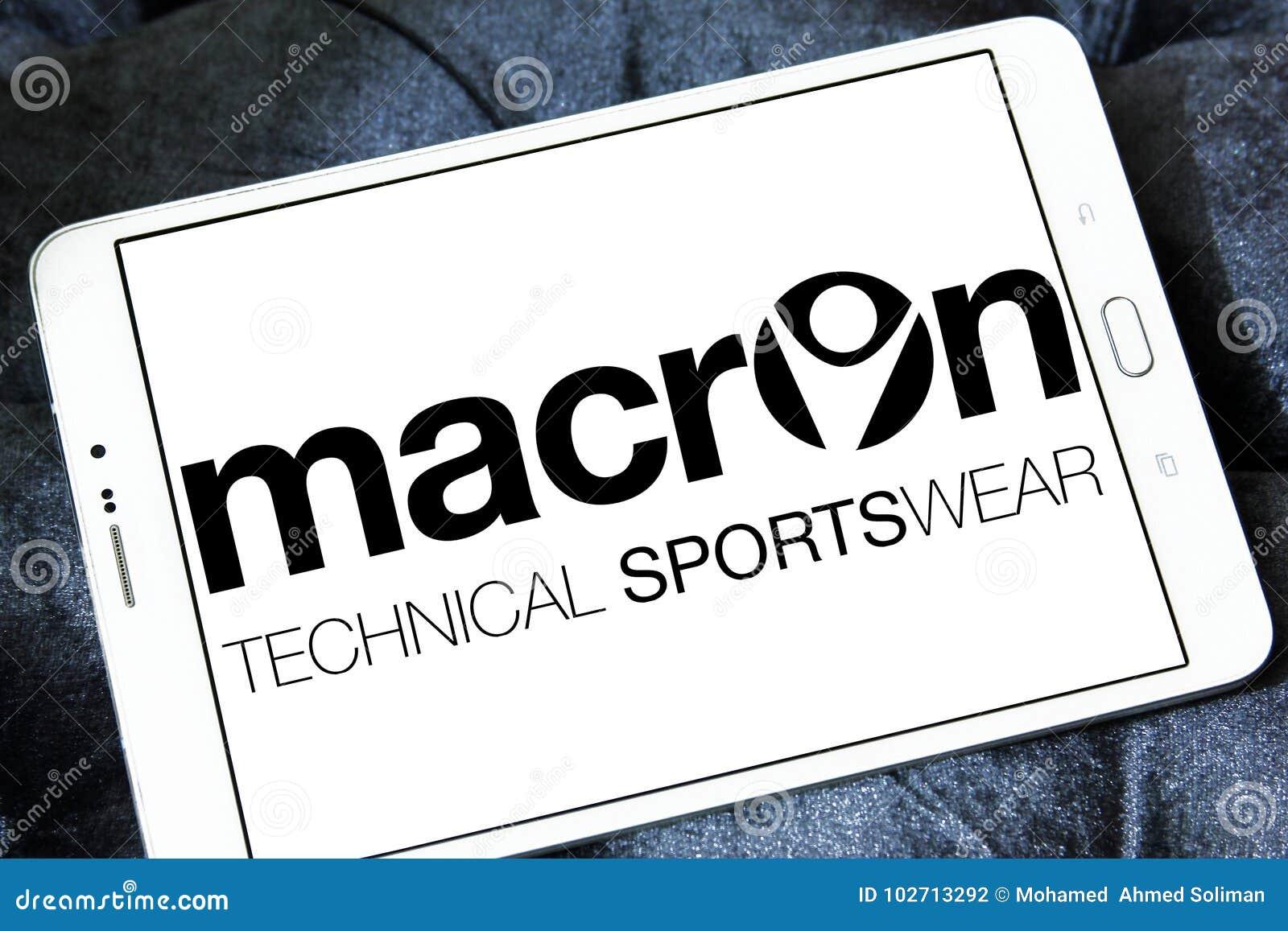 Logo De Société De Vêtements De Sport De Macron Photographie