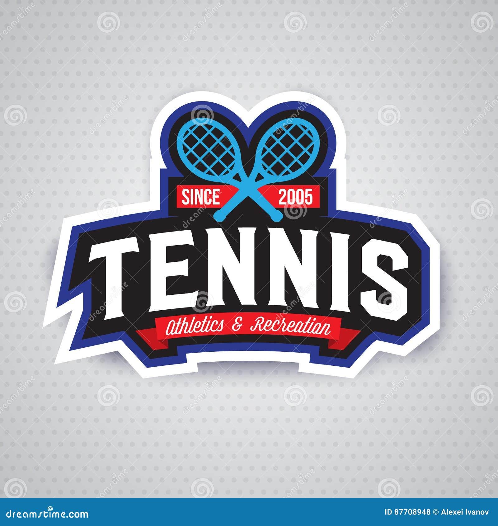 Logo de tennis, insigne, calibre de conception