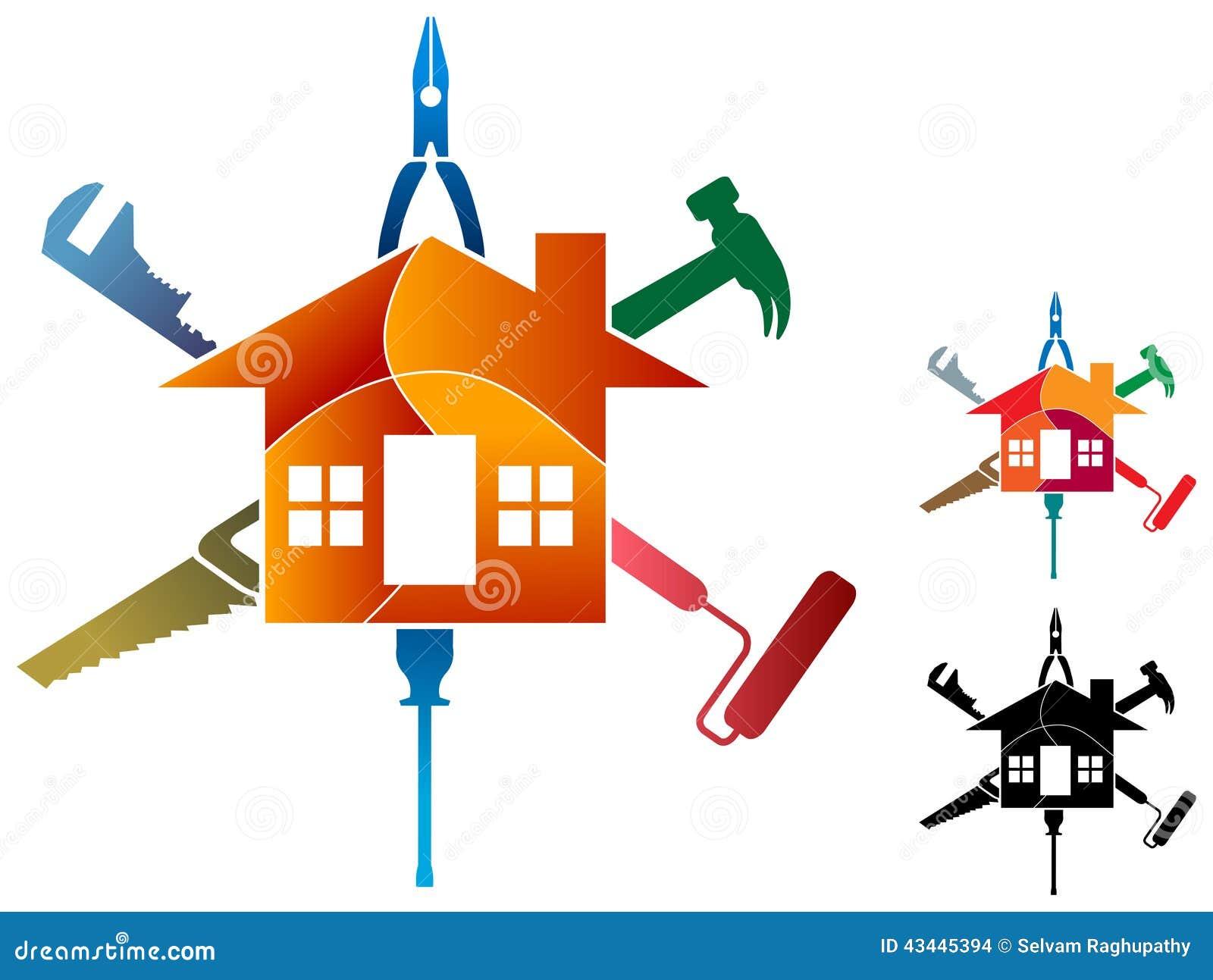 Logo De Travail De Chambre Illustration De Vecteur Image