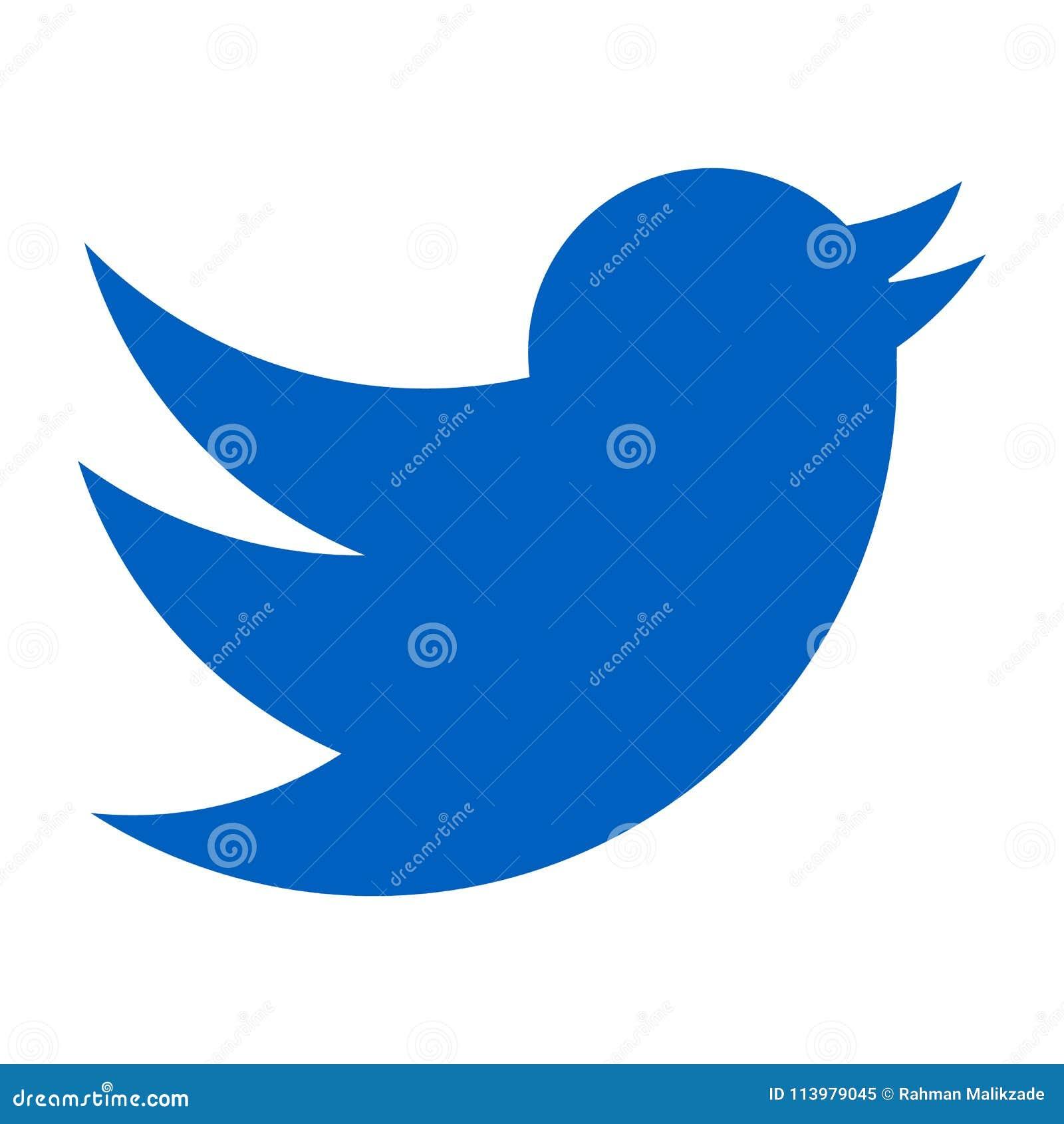Logo De Twitter Oiseau Bleu Sur Un Fond Blanc Vecteur D Icone