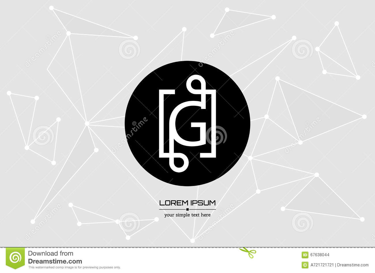 Download Logo De Vecteur Avec La Carte Visite Professionnelle Photo Stock
