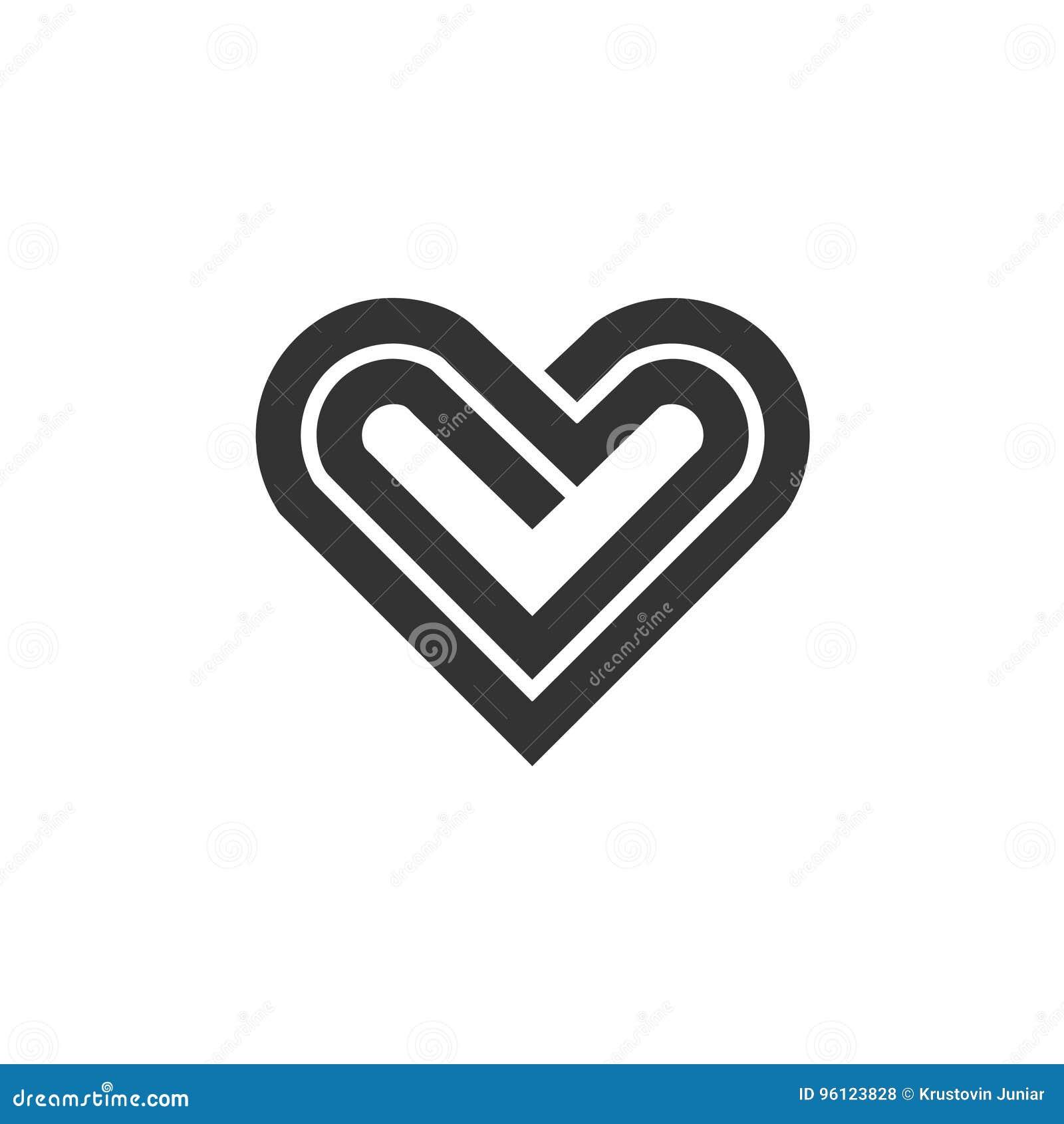 Logo de vecteur d icône de coeur