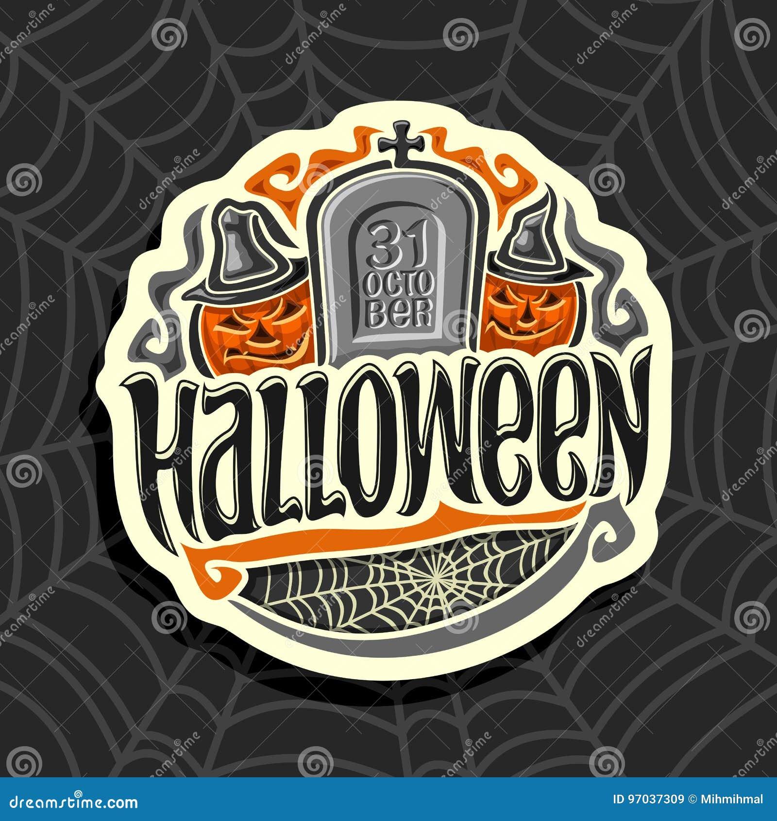 Logo de vecteur sur le thème de vacances de Halloween