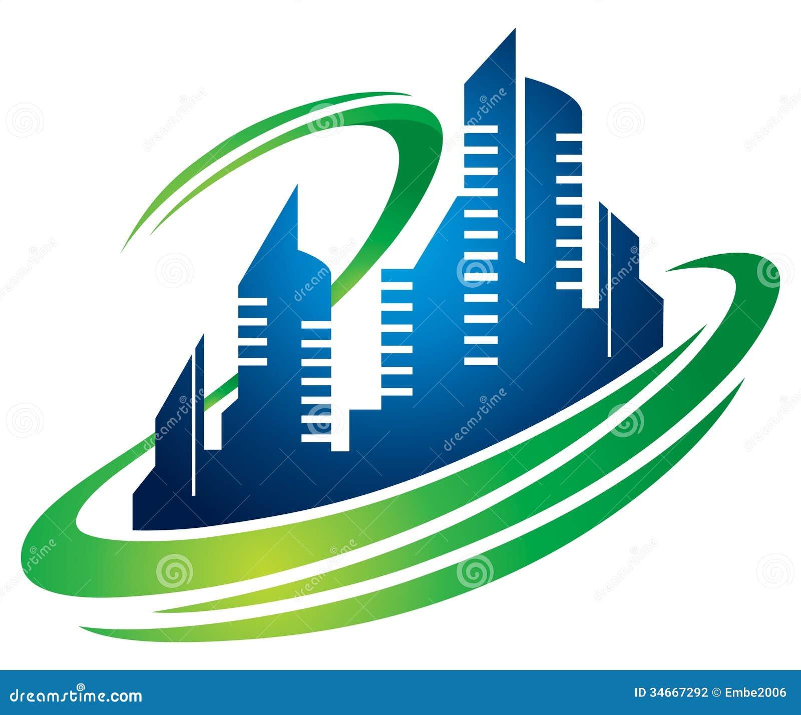 Super Logo de ville de bâtiment illustration de vecteur. Image du vous  IQ66