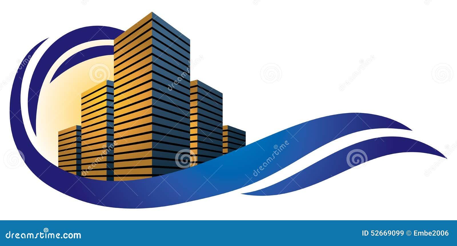 Exceptionnel Logo de ville de bâtiment illustration de vecteur. Illustration du  YX26
