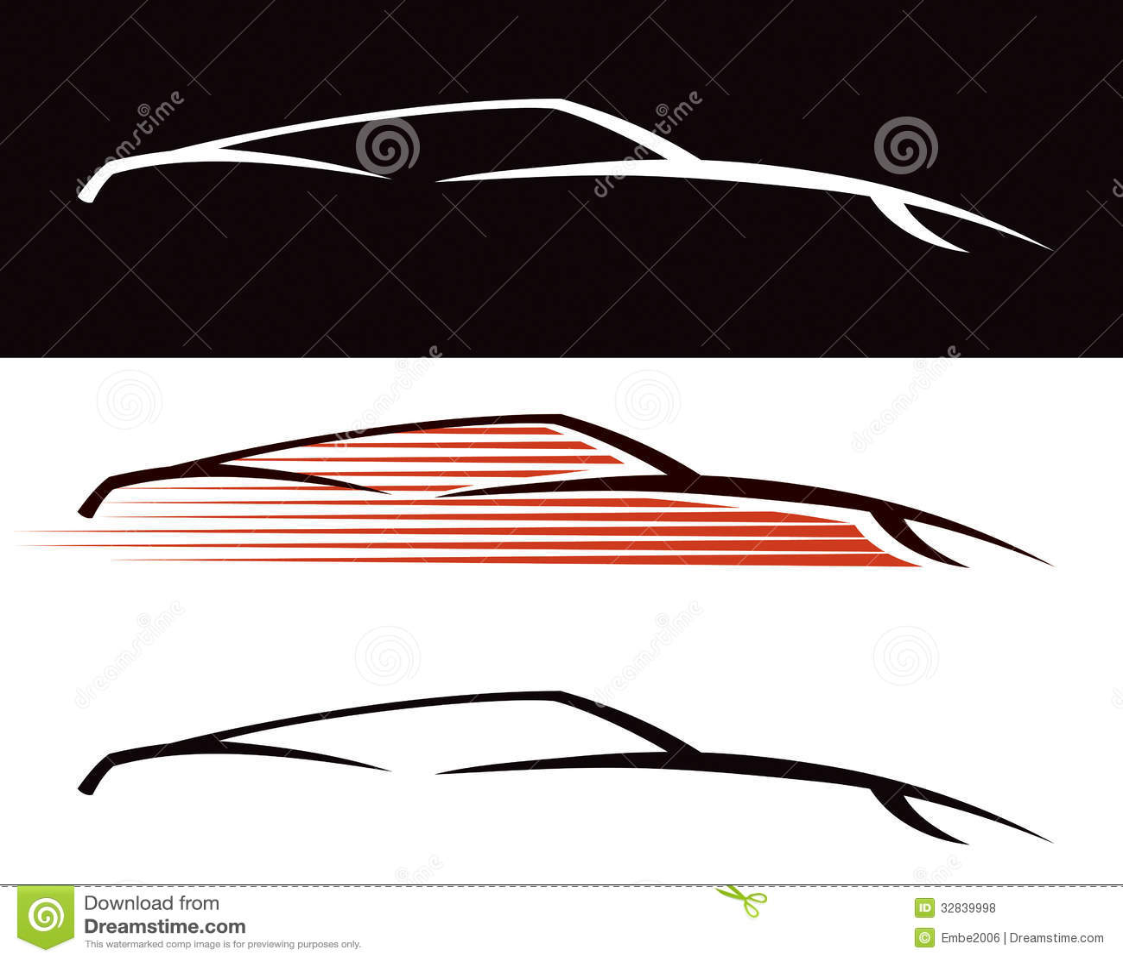 Logo de voiture photos libres de droits image 32839998 - Voiture profil dessin ...