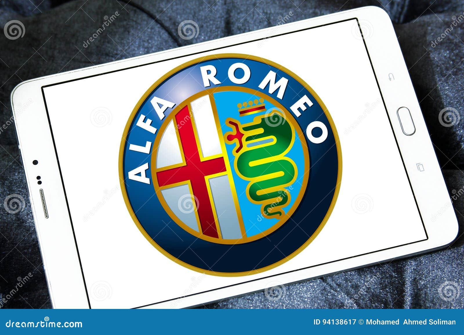 Logo de voiture de romeo d alpha