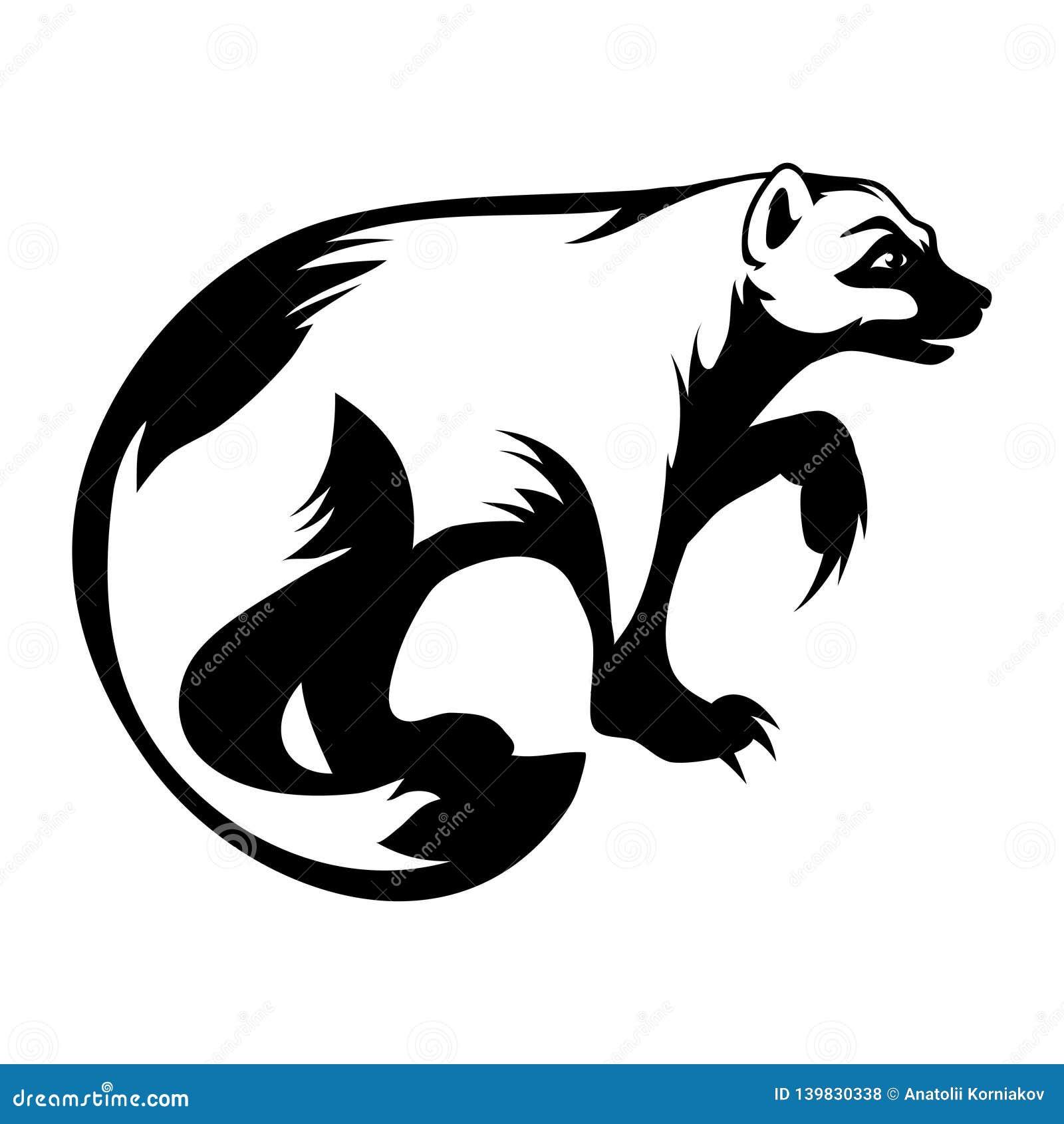 Logo De Wolverine Dessin De Vecteur Illustration De Vecteur Illustration Du Dessin Vecteur 139830338