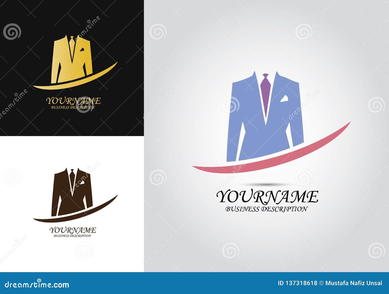 Logo degli uomini del rivestimento del vestito