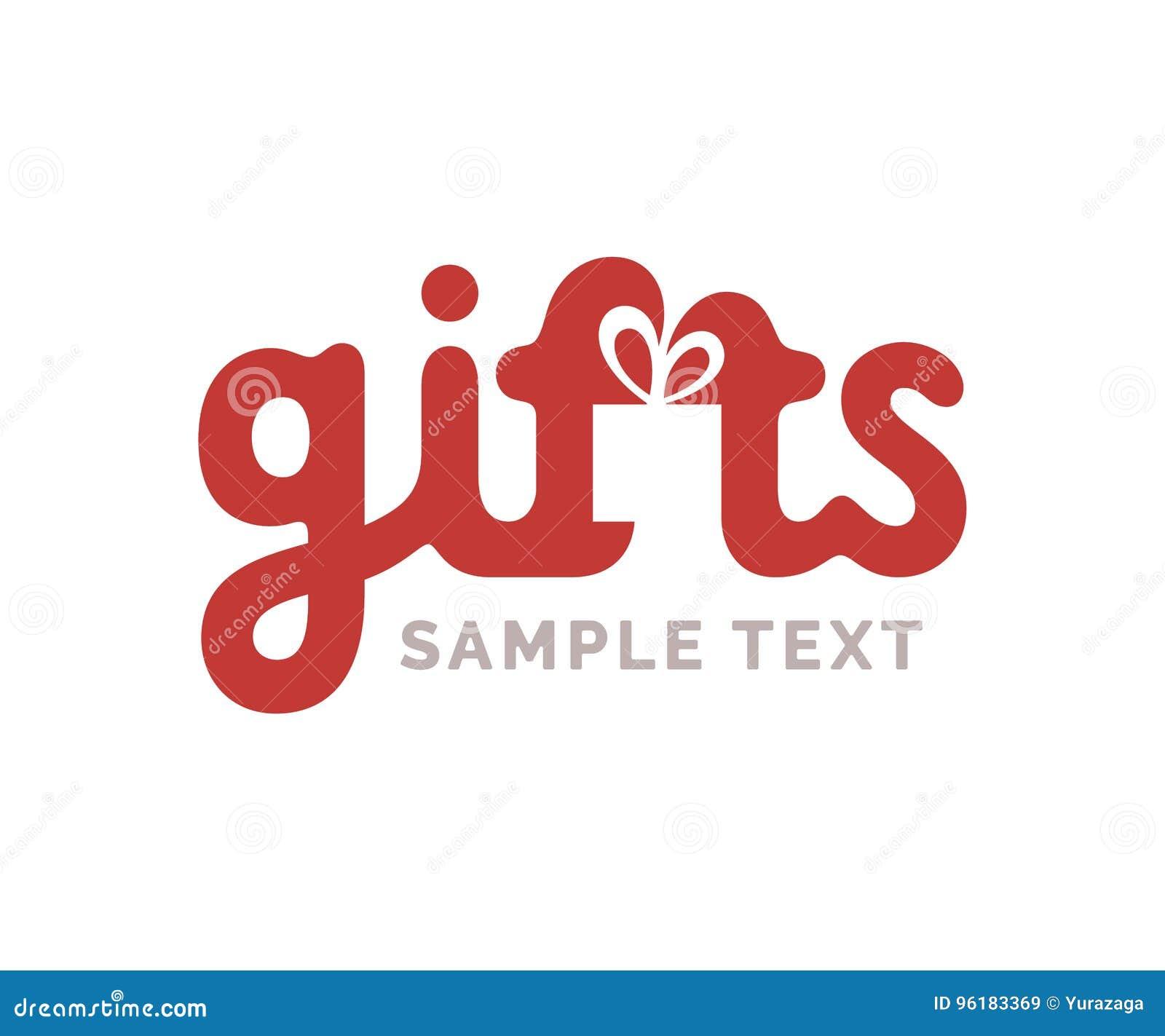 Logo dei regali con il simbolo della scatola