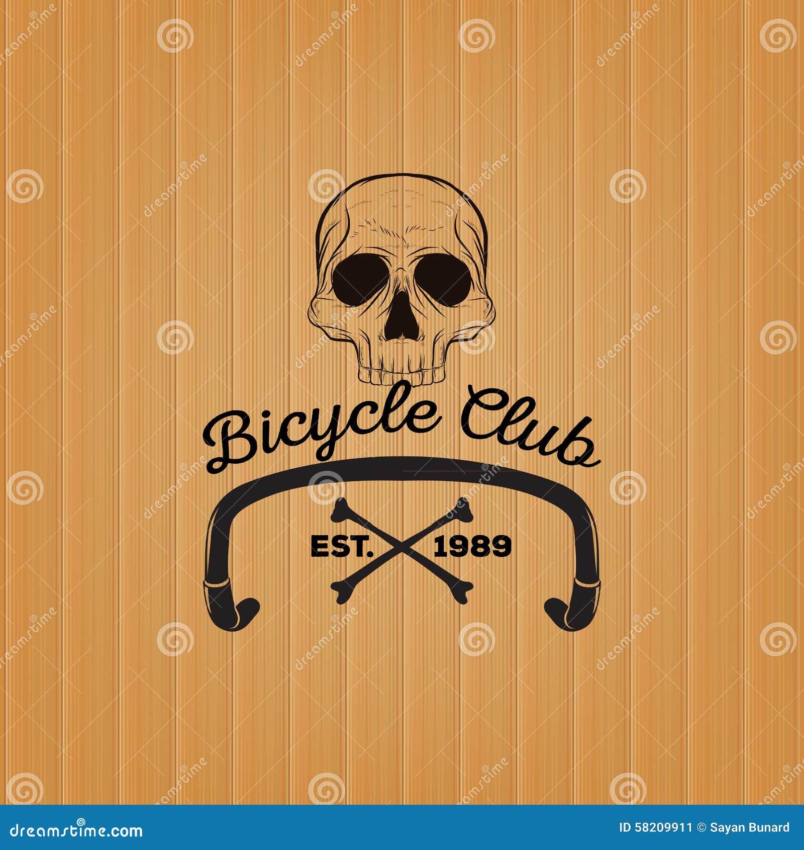 Logo del cranio, logo del club della bicicletta