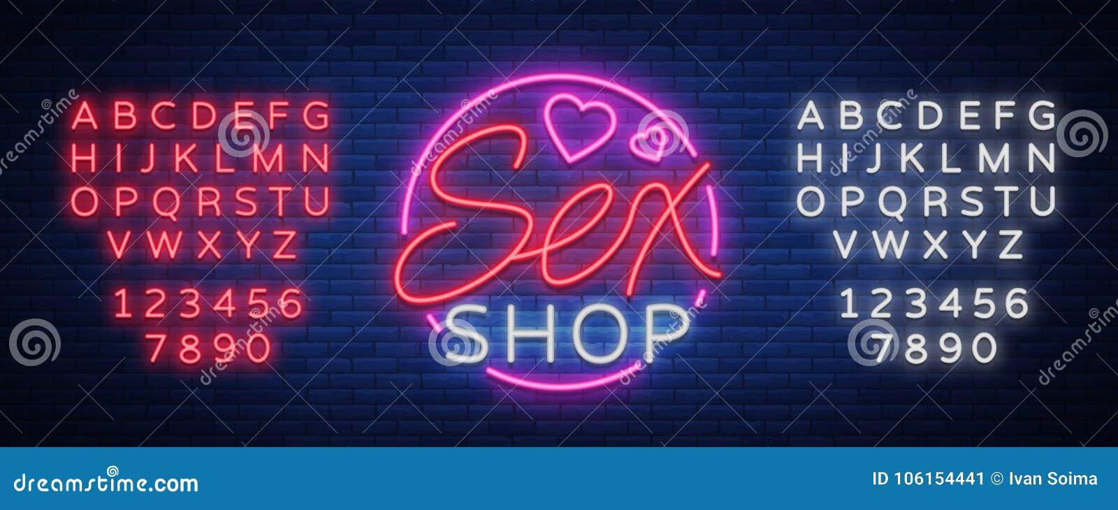 Logo del modello del sesso, concetto sexy xxx per gli adulti nello stile al neon Insegna al neon, elemento di progettazione, stoc