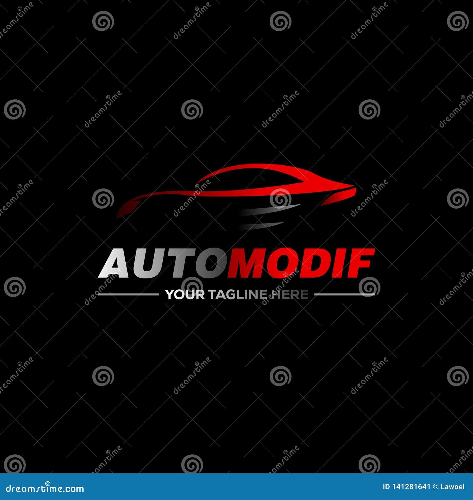 Logo dell automobile nella linea semplice vettore del modello di progettazione grafica