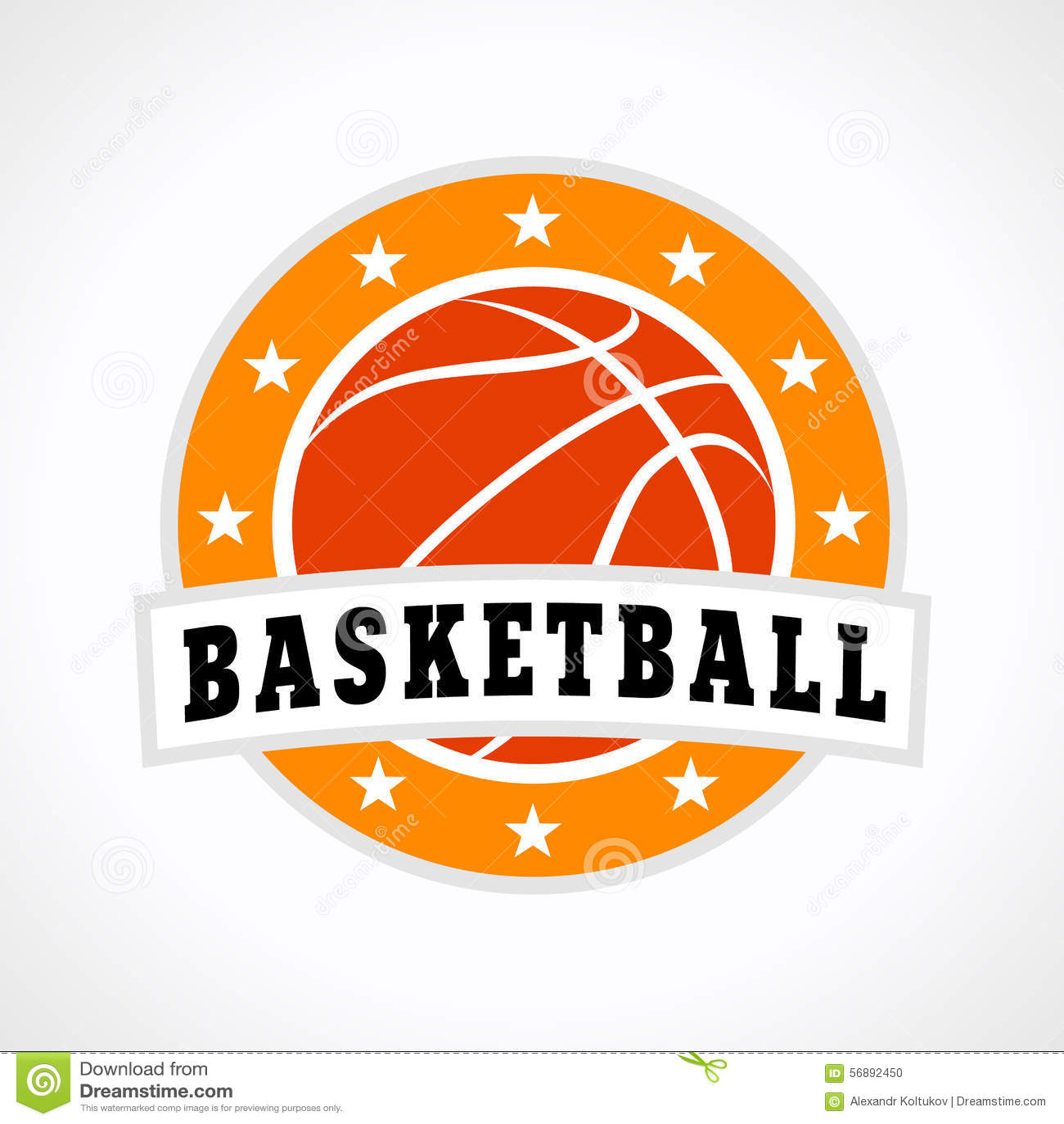 Logo dell emblema di pallacanestro