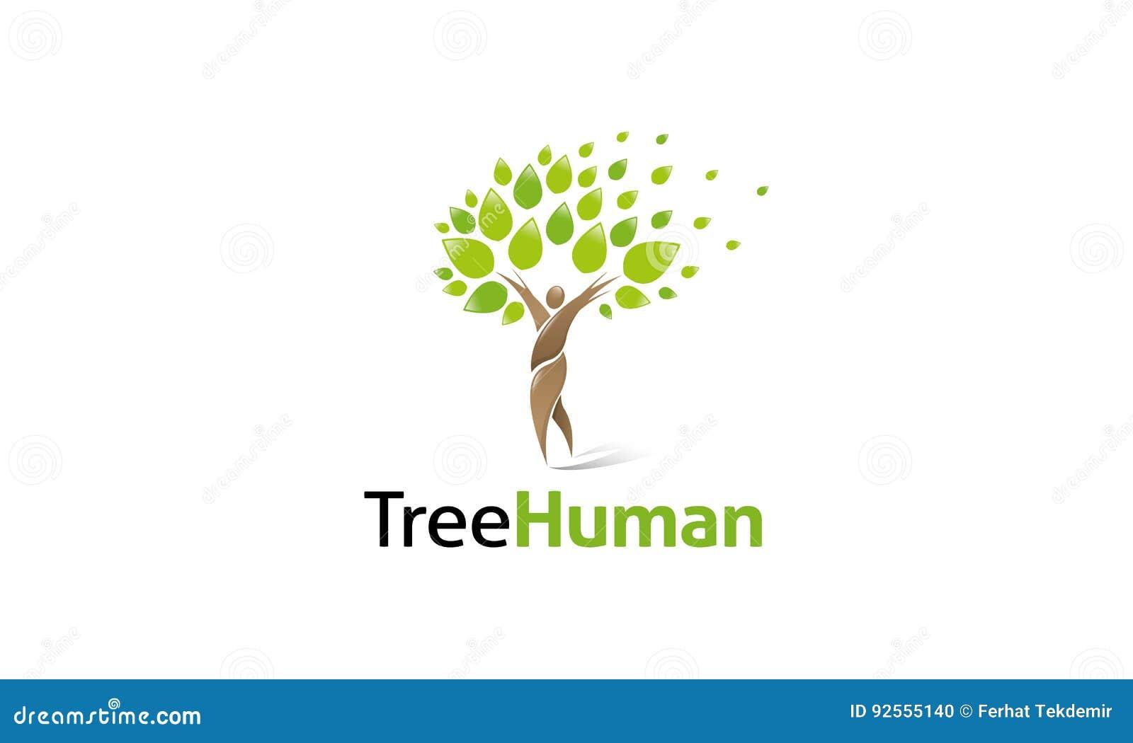Logo dell essere umano dell albero