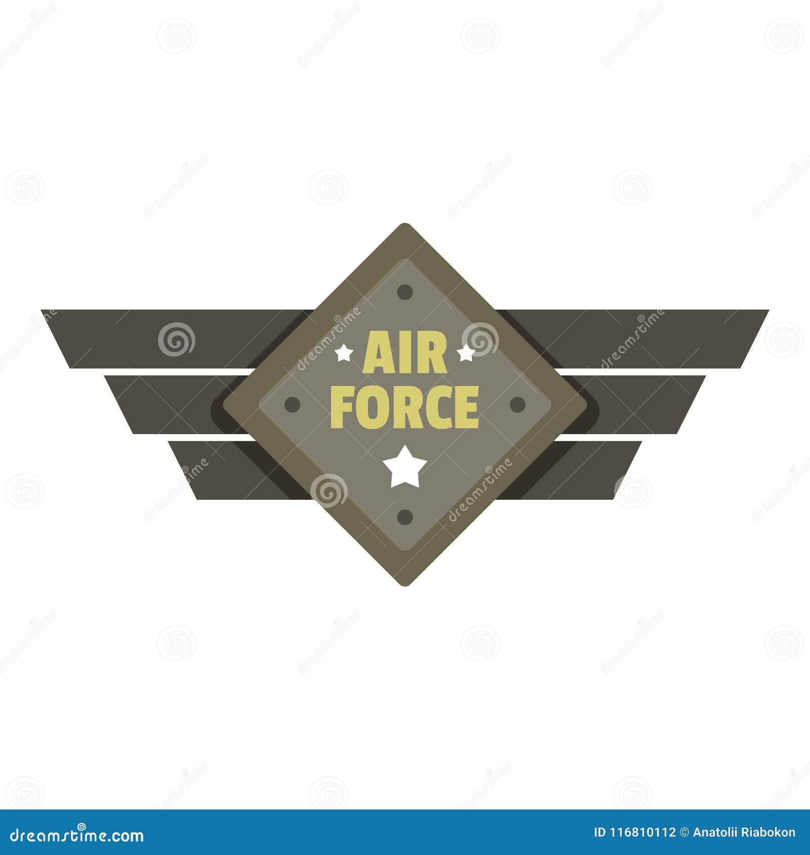 Logo dell icona dell aeronautica, stile piano